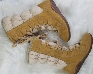 Timberland leather suede winter boots size 7